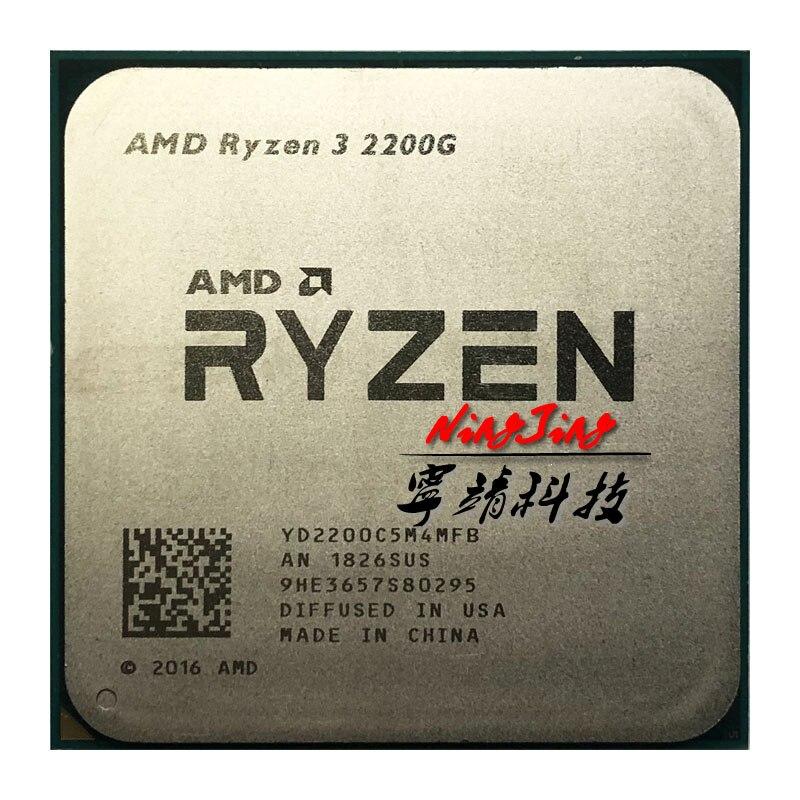 AMD Ryzen 3 2200G R3 2200G 3.5 GHz Quad Core Quad Thread CPU Processor YD2200C5M4MFB Socket AM4-in CPUs from Computer & Office
