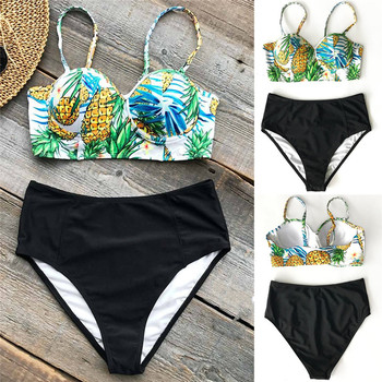 Meihuida Swimwear Women 2019 Bikini Push-up Padded Bra High waist Swimsuit Tankini Triangle Bathing Suit