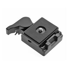 Aluminum Alloy Rubber Quick Release Plate 496RC 498RC2 804RC2 Pan Tilt Clamp Adapter for Manfrotto 200PL-14 Camera Tripod camera tripod adapter clamp for manfrotto 200pl 14 quick release clamp plate mount tripod plate for manfrotto dslr camera