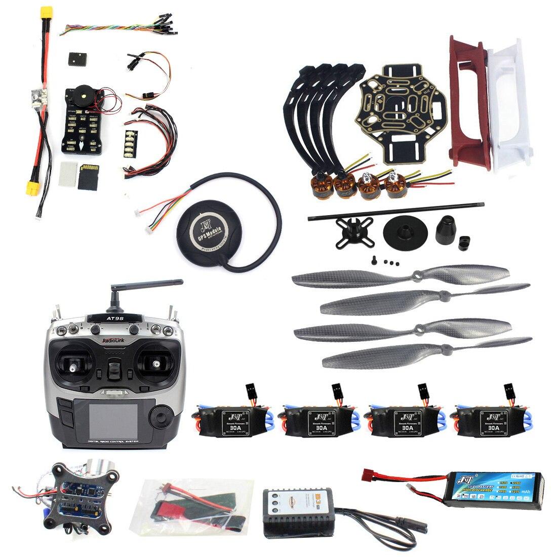 DIY RC FPV Drone комплект 4 оси Quadcopter с F450 450 кадров PIXHAWK управление полетом Pxi px4 920KV двигателя gps AT9S передатчик RX