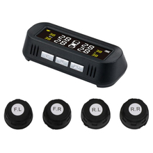 TPMS Wireless Tire Pressure Alarm Monitoring System LCD+4 External Sensors for Car Electronics [sa] american precision electronics original pressure sensors 13a 030a original authentic 2pcs lot