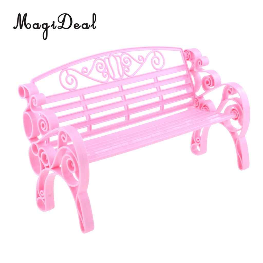 Awe Inspiring Pink 1 6 Scale Dollhouse Miniature Park Bench For Dolls House Garden Yard Furniture Decor Dolls Acc Model Toy Camellatalisay Diy Chair Ideas Camellatalisaycom