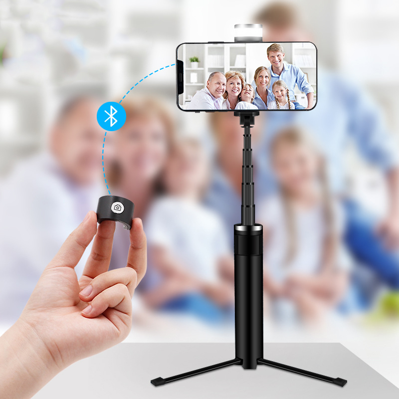 Image 5 - Portable Mobile Phone Holder Tripod Camera With A Wireless Bluetooth Remote Self Timer Artifact Rod-in Selfie Sticks from Consumer Electronics