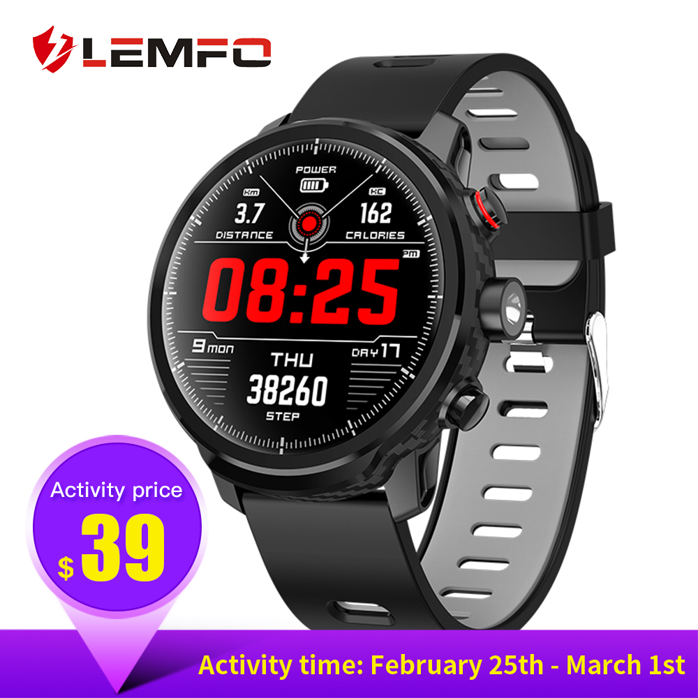 LEMFO Smart Watch with Full Touch Screen IP68 Waterproof Smartwatch Support Mult
