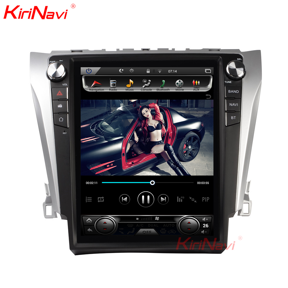 KiriNavi 12,1 2 Din Android 8,1 Car Radio para Toyota Camry Android reproductor de Dvd del coche de navegación GPS reproductor Multimedia 2012 + 4G