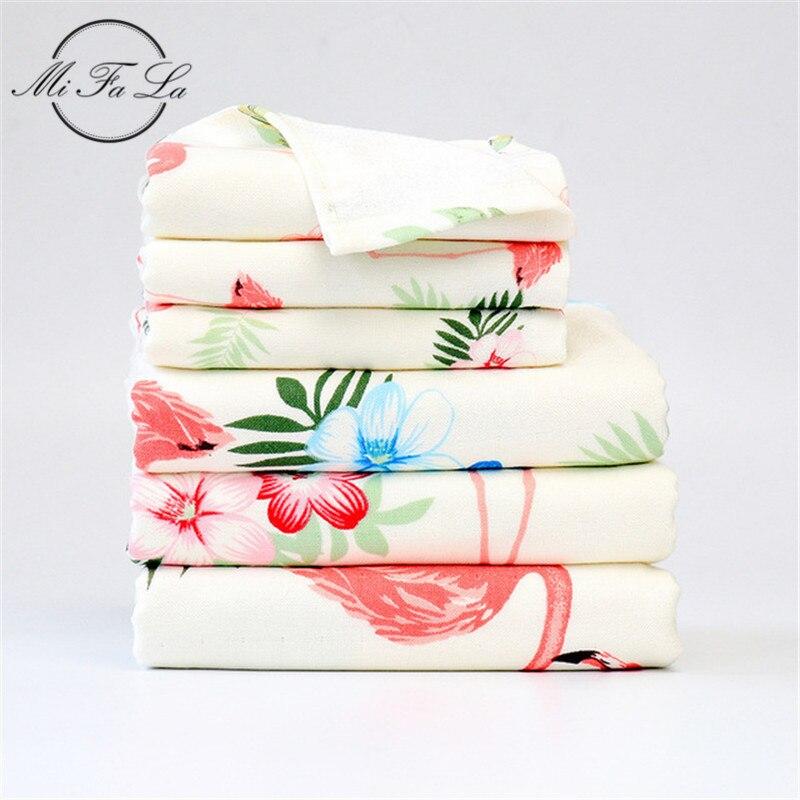 3 Pcs Antibacteriële Bamboevezel Badhanddoek Set Flamingo Bloemenprint Gezicht Handdoek Badhanddoeken Voor Volwassenen Kinderen Handdoeken Badkamer Glanzend
