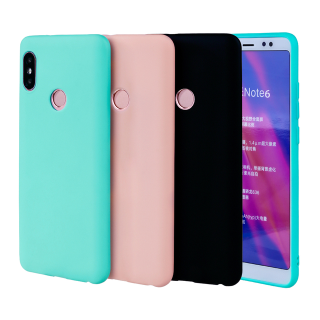 official photos c90f5 4cef1 US $1.99 |Silicone Case For Xiaomi Redmi Note 6 Pro TPU Candy Color Girls  Coque Soft Funny Ultra Thin Cute For Xiaomi Redmi Note 6-in Fitted Cases ...