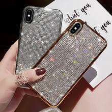 Berlian Imitasi Bling Diamond Glitter Case untuk iPhone X XS XR X MAX 7 7 Plus 6 6S Silikon Lembut TPU Seksi Girly Protector Back Cover(China)