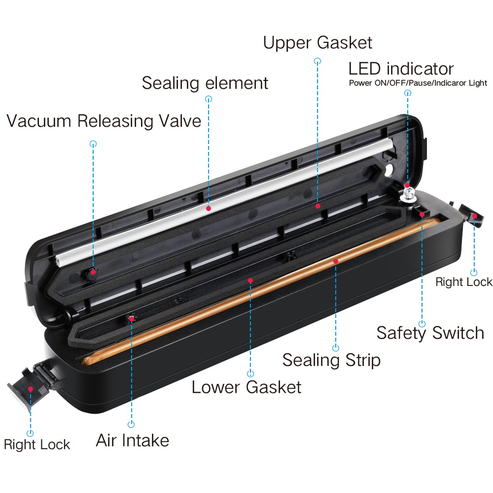 Vacuum Sealer Automatic Portable Compact Fresh keeper Sealing Tool