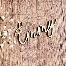 Лазерная резка имен, Настраиваемые настройки места, Заказные настройки таблицы, Тарелка деревянная имя вырезы, дерево украшение свадебного стола заказное имя Pla
