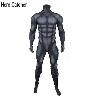 Мужской костюм героя Ловца мышц, черная подкладка для мышц, рельефная мышца, тренировочный костюм