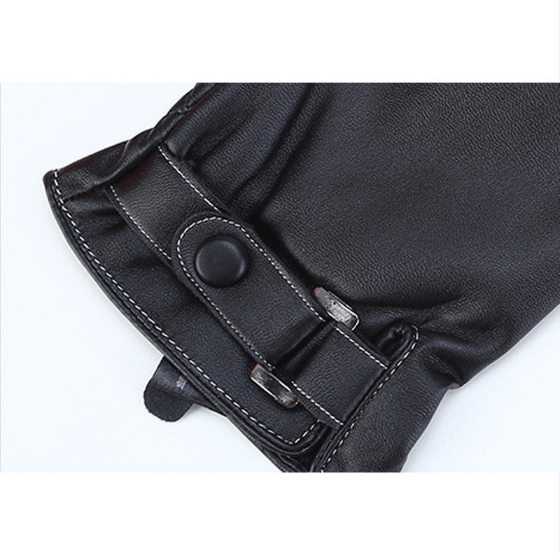 Plus Velvet 2018 Men's Genuine Leather Gloves Sheepskin Gloves Fashion Female Windproof Gloves Autumn And Winter Mittnes