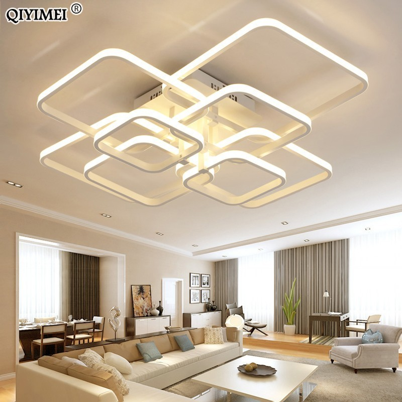modern led chandelier with remote control acrylic lights For Living Room Bedroom Home Chandelier ceiling Fixtures