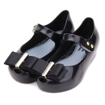new style Bow Fashion Girls shoes Mini Fashion Jelly Shoes Princess Shoes Girls Soft Comfort Sandals Kids Sandals 15-18cm image