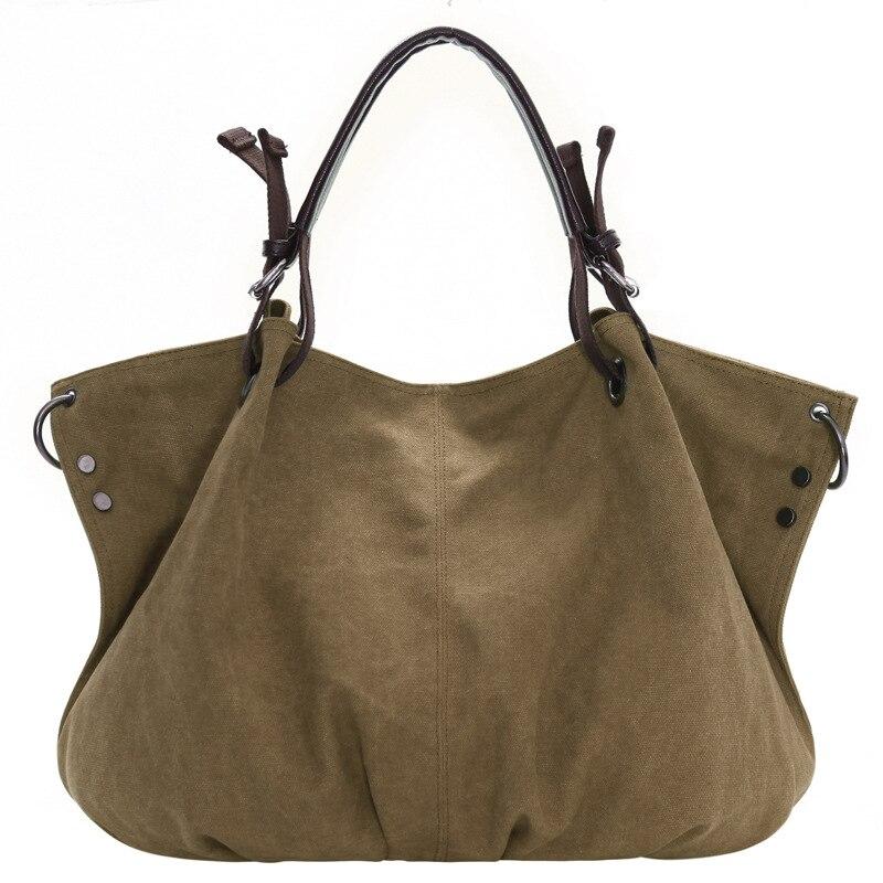 Bolsas Feminina Top Limited Bolsos Mujer Big Messenger Bag Women Shoulder Female Ladies Canvas Leather Bags For  Handbags