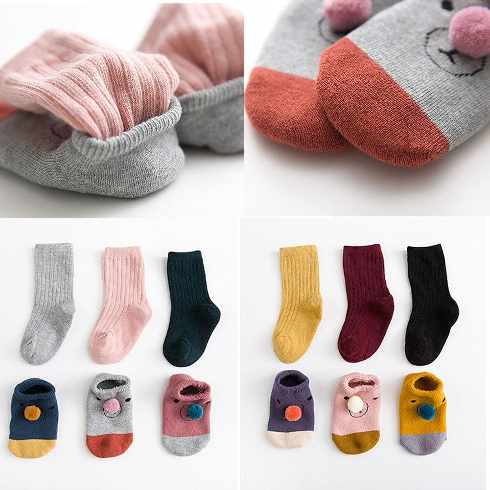 0-3 Y Kleinkind Nicht-slip Boot Socken Kinder Baby Cartoon Winter Warm Nette Anti-slip Socken Für Jungen Und Mädchen