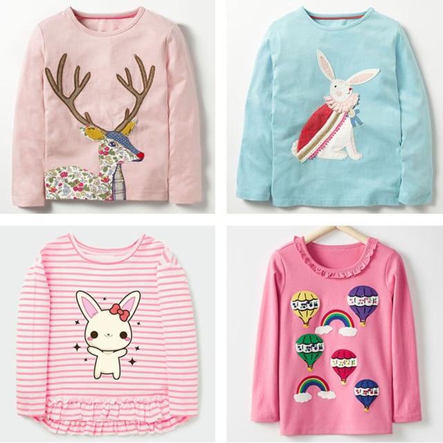 c97c6b70 New 2019 Brand 100% Cotton Baby Girls t shirts Kids Clothing Clothes  Children Long Sleeve