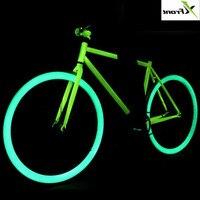 Новый бренд светящийся Высокоуглеродистая сталь фиксированная передача для ретро велосипеда 700c студенты трюк велосипедный инвертор Ride Road