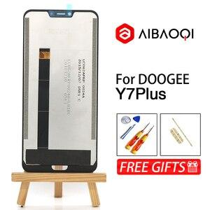 Image 2 - AiBaoQi חדש מקורי 6.18 אינץ מגע מסך + 2246x1080 LCD תצוגת עצרת החלפת Doogee Y7 בתוספת אנדרואיד 8.1 טלפון