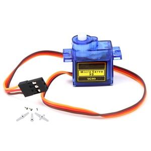 Image 2 - Высокое качество Мини SG90 шестерни микро мотор для вертолет, самолет с радиоуправлением синий или оранжевый SG90 Мини Мотор