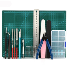 1 set DIY Modeler Basic Tools Craft Set Hobby Model Building Kit Grinding For Gundam u star ua 90067 model suits tool set upgrade version ua90067 for gundam tamiya trumpete model making