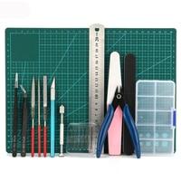 1 set DIY Modeler Basic Tools Craft Set Hobby Model Building Kit Grinding For Gundam