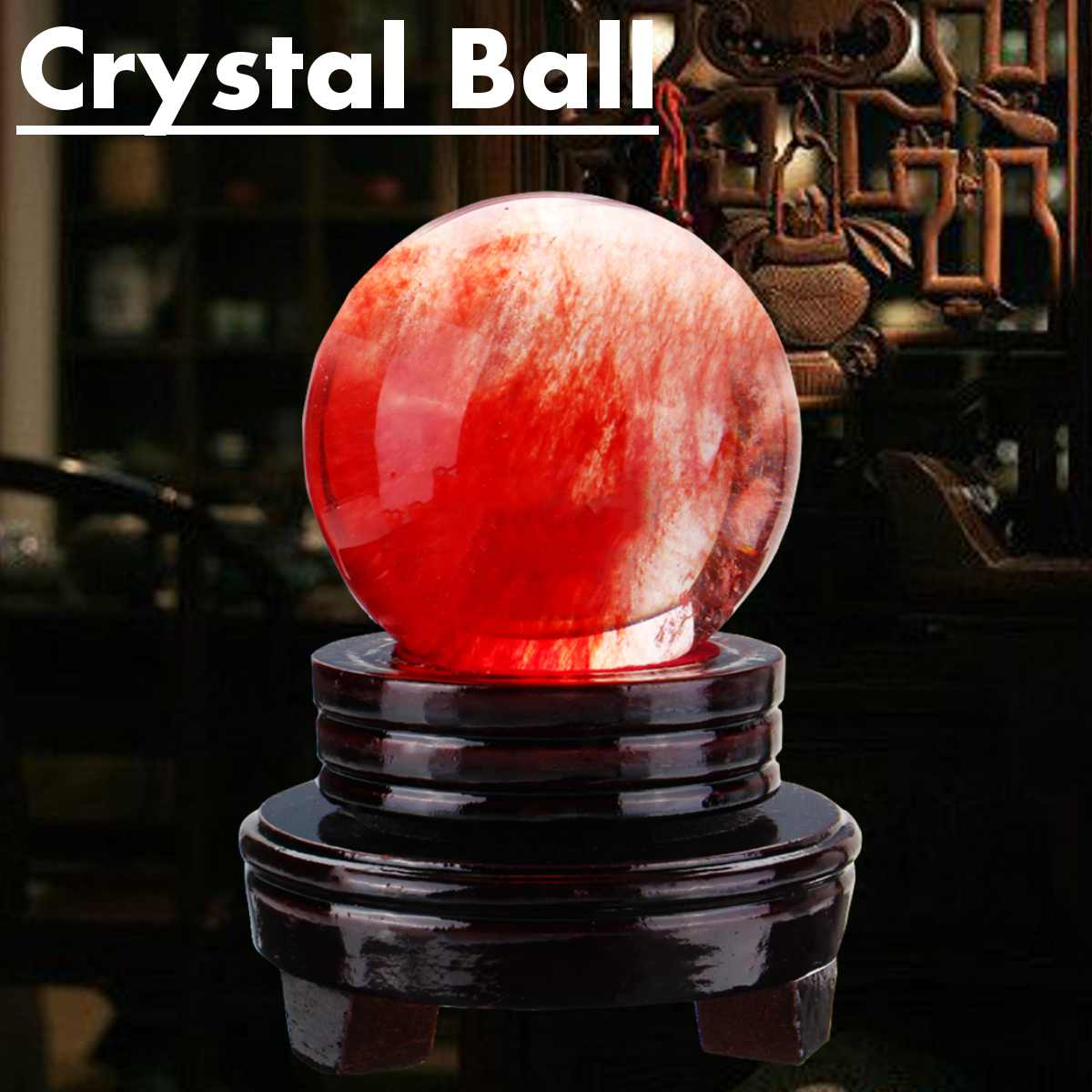 Natural Citrine Calcite Quartz Crystal Sphere Ball Healing Gemstone 50MM Stand