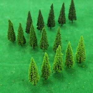 Image 3 - 150 stücke Ho Skala Kunststoff Miniatur Modell Bäume Für Gebäude Züge Eisenbahn Layout Landschaft Landschaft Zubehör spielzeug für Kinder