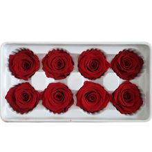 8PCS/BOX High Quality Preserved Flowers Flower Immortal Rose 5CM diameter mothers day gift Eternal Life Material box
