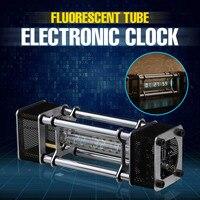 В разобранном виде IV 18 люминесцентные трубки Набор для электронных часов DIY 6 цифровой дисплей энергии столб с дистанционное управление мод
