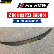 For BMW F22 Spoiler Lip Wing FRP Primer black M4 Style 220i 228i 230i 235i M2 Coupe Rear Trunk Tip tail 2014-in