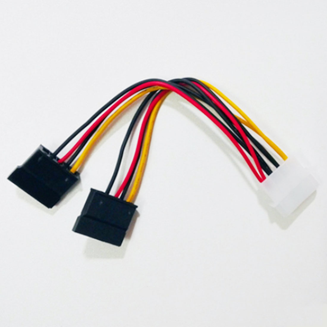 New High Quality 4 Pin IDE Power Splitter 1 Male To 2 Female ATA / SATA Power Cable Y Splitter Hard Drive Power Supply Cables