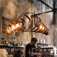 LukLoy Spiral Spring Industrial Hanging Lamp Bar Retro Vintage Pendant Light Hanglamp Loft Kitchen Ceiling Hanging Light Fixture