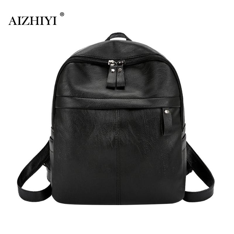 Casual Women Small Backpack Preppy Style Leather Solid Color Shoulder Travel Schoolbags Sac A Dos Mochila Feminina 2019 New
