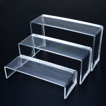 3 Tier Acrylic Clear Shoes Display Stand Jewellery Cosmetics Shoe Storage Rack Organiser Holder Office Home Supplies