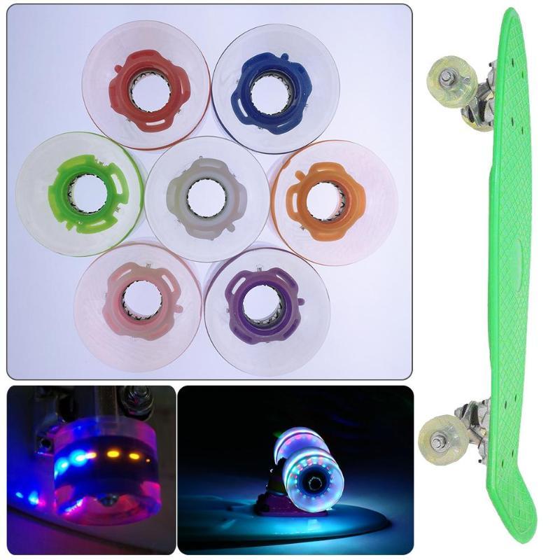 4pcs 60*45mm Skateboard Wheels PU Wear Resistant Roller Wheels Colorful Skateboard Parts Inline Skates Scooters Skateboard