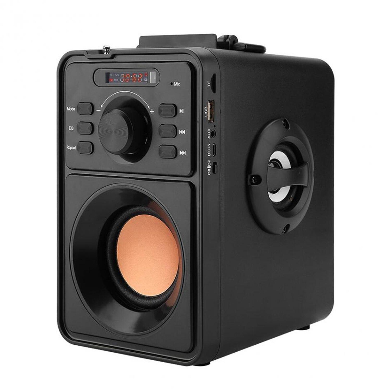 Estéreo portátil Sem Fio Bluetooth Speaker Digital Lcd Ao Ar Livre Speaker Suporte Tf Usb Fm Aux Controle Remoto