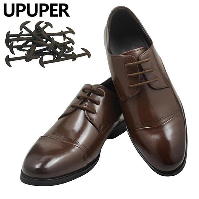 Upuper 12pcs Set Men Women Lazy No Tie Shoelaces For Leather Business Dress Shoes Elastic Silicone Shoe Lace Shoelaces Aliexpress