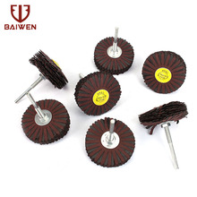 80mm Emery Cloth Grinding Wheel For Wood Carving Sanding Polishing 80-400 Grit