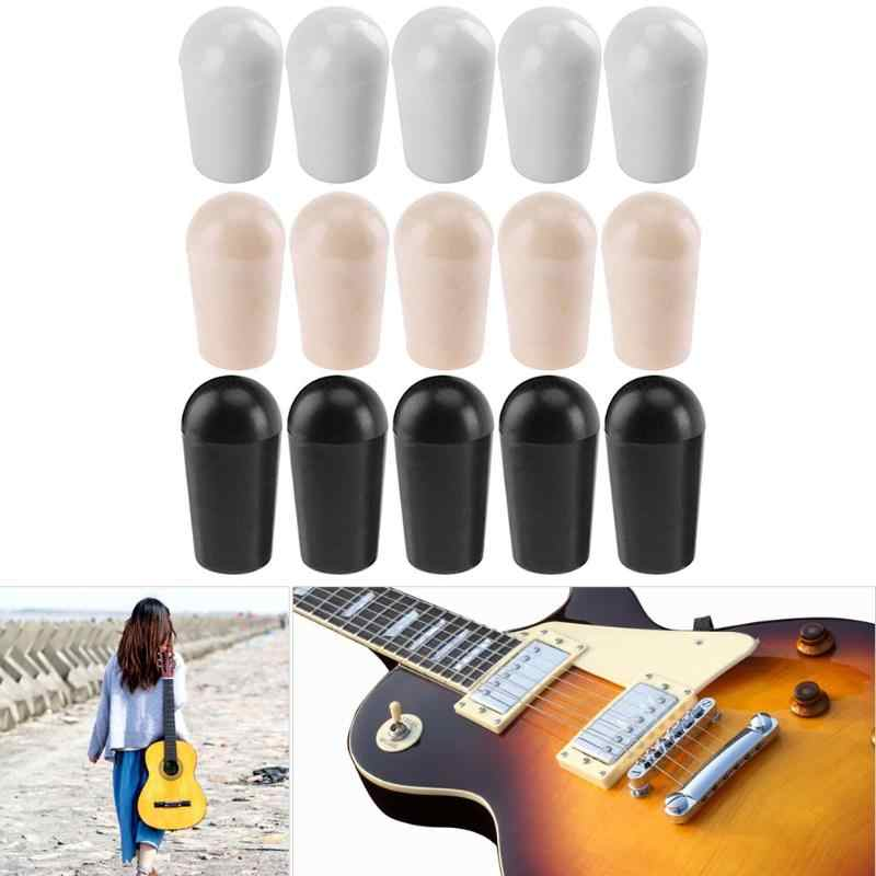 10 Pcs Plastik Gitar Toggle Switch Tip 4 Mm Cap Tip Tombol untuk LP Electric Hitam Putih Kuning 3 Warna gitar Aksesoris