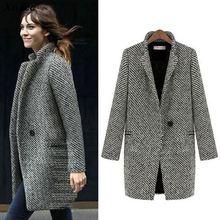 Xnxee סתיו חורף חליפה בלייזר נשים פורמליות צמר מעילי עבודת משרד ליידי ארוך שרוול בלייזר הלבשה עליונה בתוספת גודל 7XL