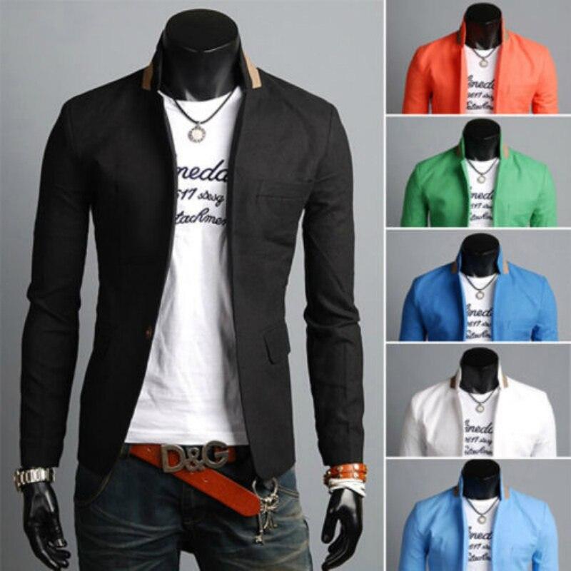 New Men Blazer Fashion Luxury Woolen Blends Patchwork Slim Suit Jackets Business Suit Male Wedding Dress Men M-3XL