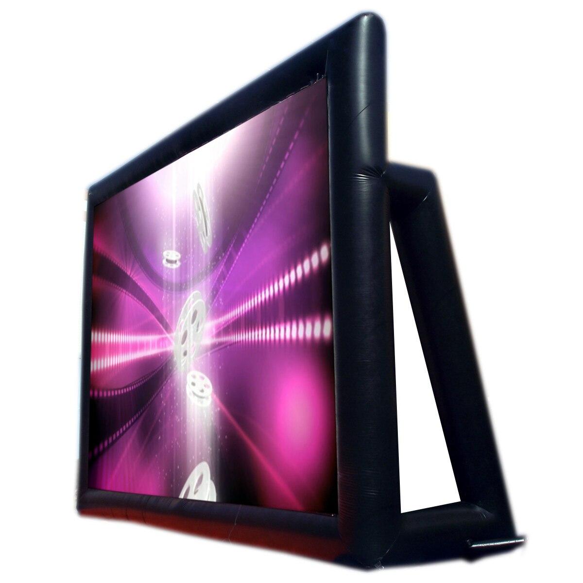 6x4 M gonflable extérieur projecteur film Projection écran maison partie arrière cinéma ventilateur ventilateur - 4