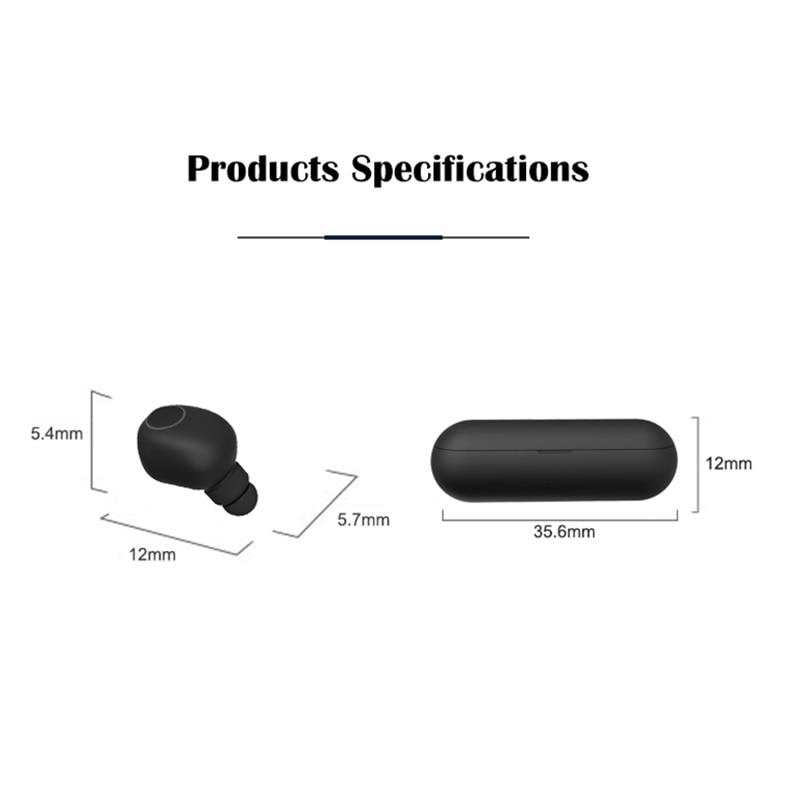 wireless earphones bluetooth 5 0 TWS headset earbuds Handsfree Sports Earbuds Gaming Headset Phone in Bluetooth Earphones Headphones from Consumer Electronics
