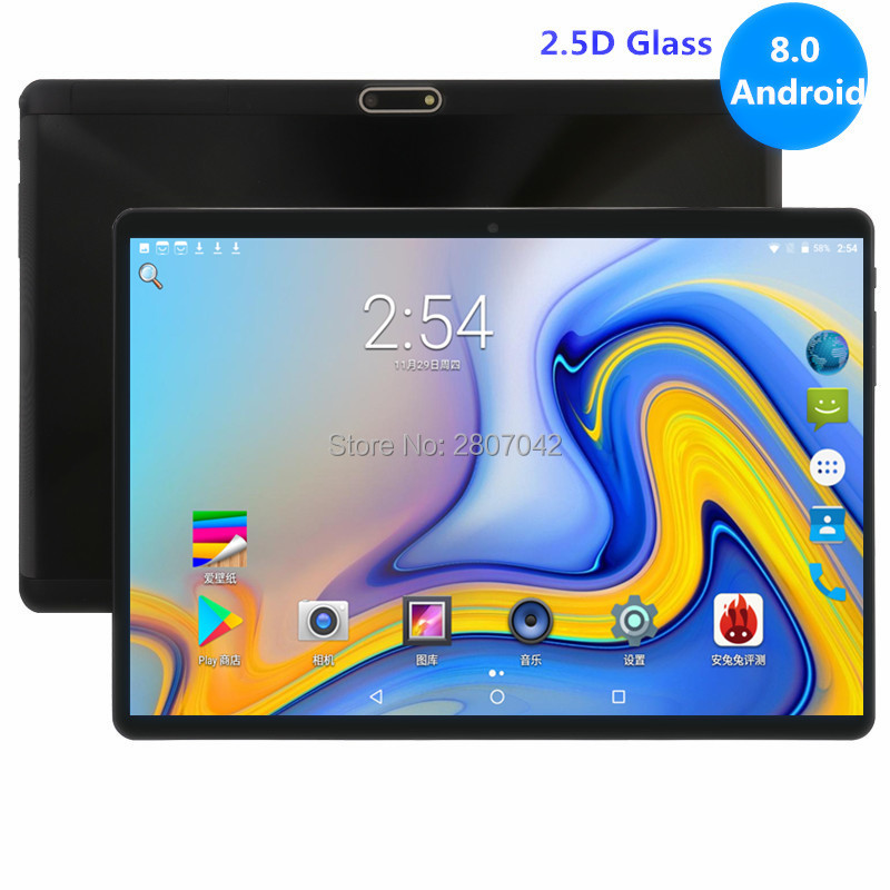 2019 Tablet 10 Inch Octa Core 4GB RAM 64GB ROM 1280X800 2.5D IPS Screen Dual SIM Card Slots 5MP Camera Android 8.0 Google Play
