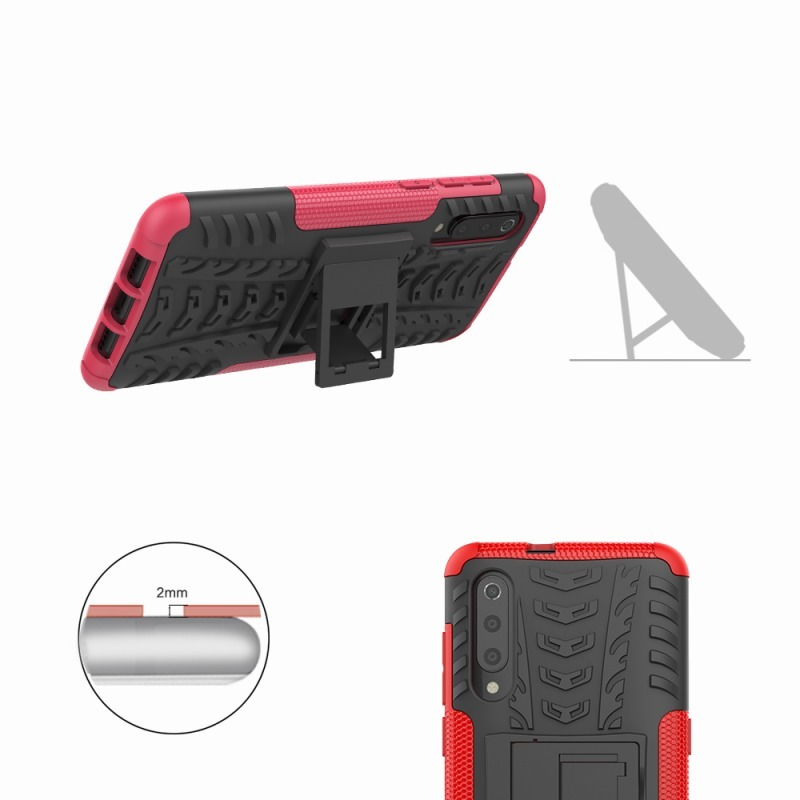Case For Xiaomi Mi 9 Se Case Armor Stand Hard Plastic Heavy Duty Shockproof Cover For Xiaomi Mi 9 Mi9 Case in Half wrapped Cases from Cellphones Telecommunications
