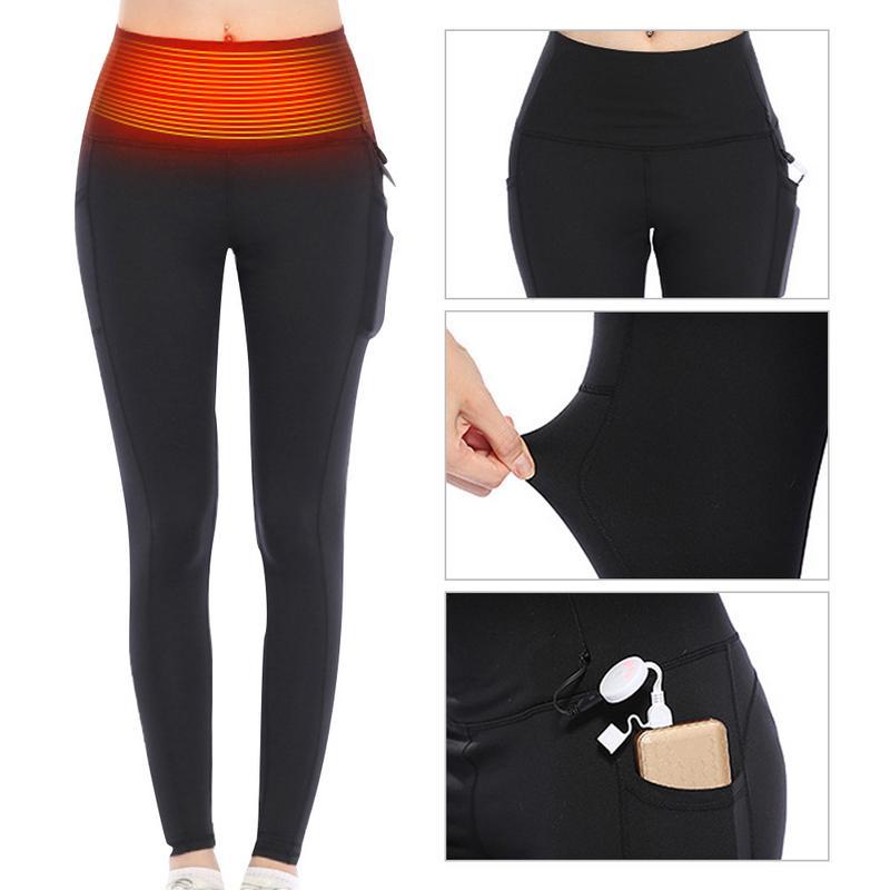 Pantalon chauffant électrique intelligent USB chargeant les vêtements chauffés brûlant la graisse amincissant le pantalon de Fitness Leggings chauds d'hiver