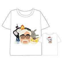 Anime  Spirited Away No face male T-shirt Men Women Short Sleeve Summer dress t shirt