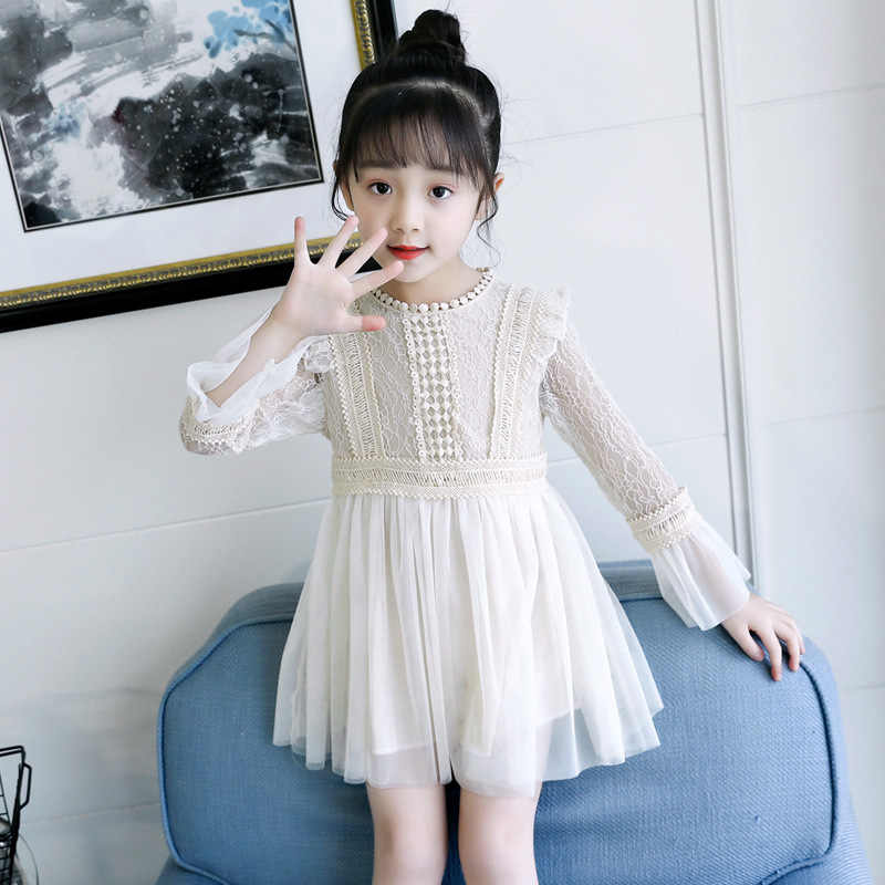 ... 2019 new spring lace princess dresses age for 4 - 14 yrs teenage girls  vintage noble 673cf374a339