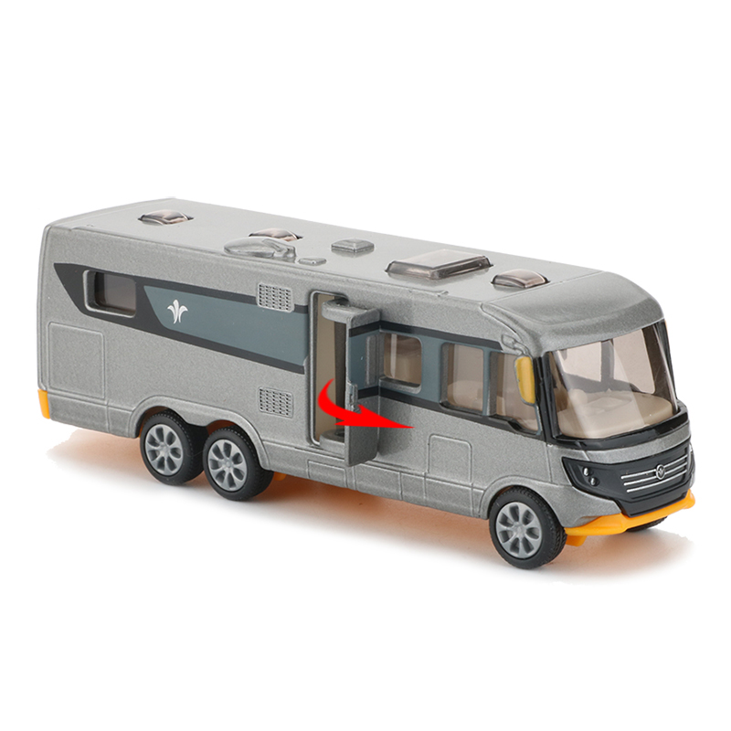 Siku Alloy Camping Car Toy Simulation Bus Model Doors Openable Motorhome RV Cars Toys For Children Buses Car Models Collection